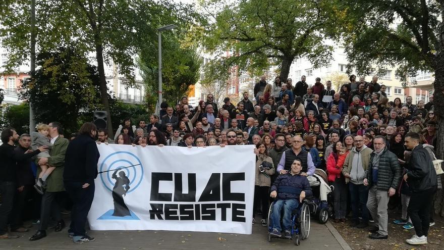 Concentración de apoyo a CUAC FM en A Coruña el pasado año