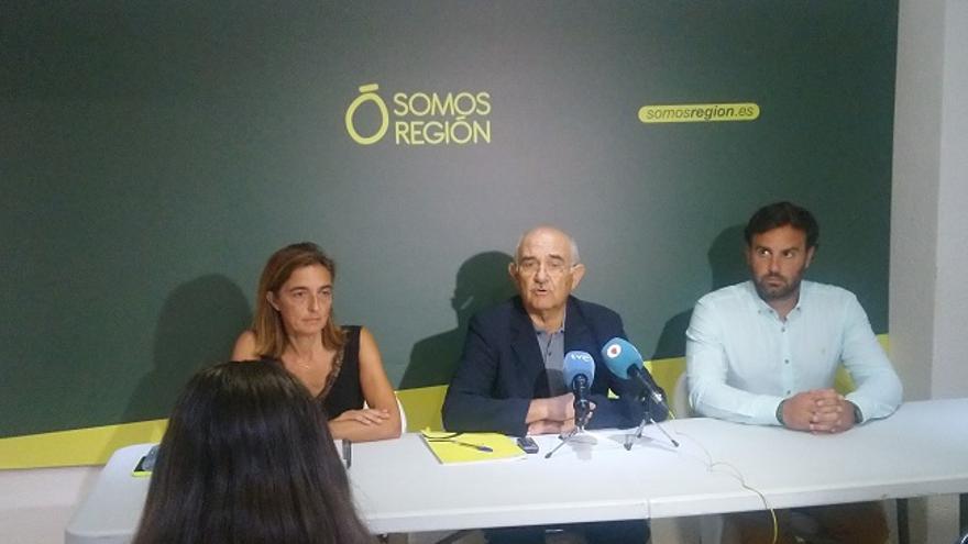 Alberto Garre comparece en rueda de prensa para anunciar su dimisión de Somos Región