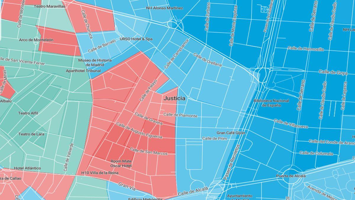 Mapa electoral de Chueca en las elecciones autonómicas del 26 de mayo | ELDIARIO.ES - MAPBOX