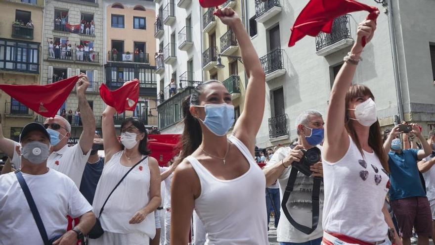 """Los """"no Sanfermines"""" en imágenes"""
