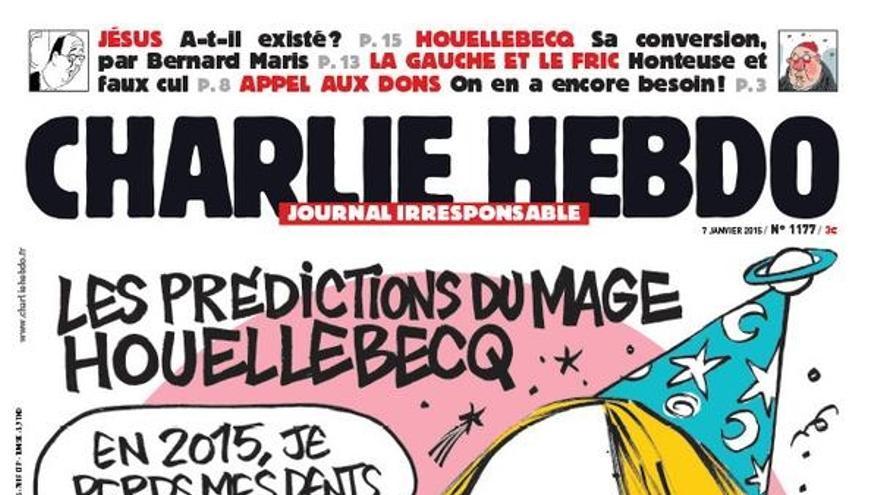 La última portada de Charlie Hebdo antes del atentado