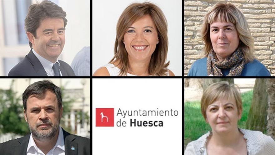 Candidatos y candidatas a la Alcaldía de Huesca