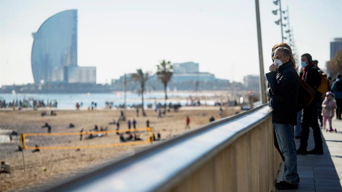 Imagen de una de las playas de Barcelona.