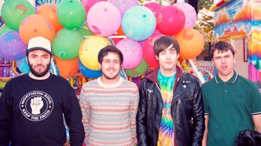 Rafa Torres (primero por la derecha), junto a sus compañeros de La La Love You.