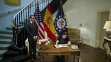 S. Santamaría ve como fortaleza la colaboración policial entre España y EEUU