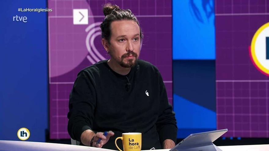 Pablo Iglesias en 'La Hora de La 1'