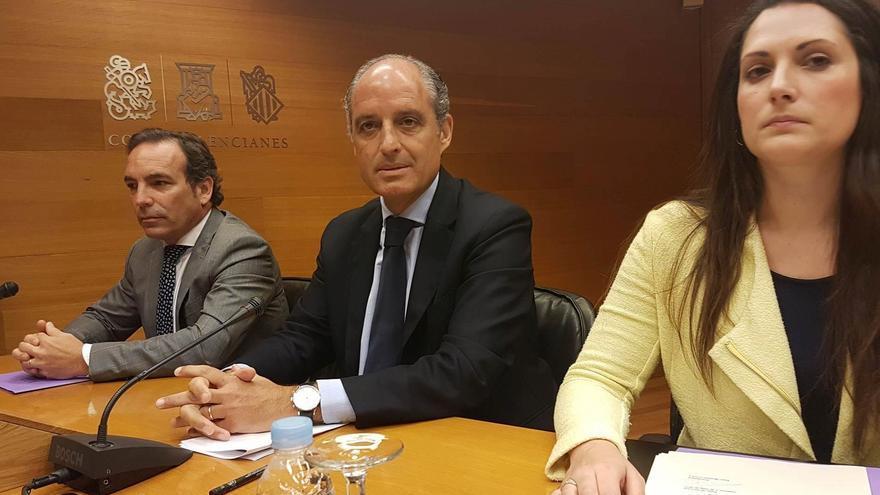 El expresident de la Generalitat Francisco Camps comparece en las Corts Valencianes para dar explicaciones sobre Ciegsa