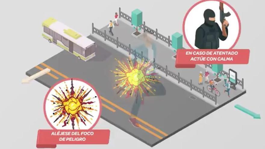 Campaña de Interior sobre atentados