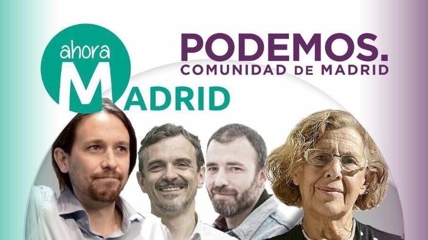 Pablo Iglesias y Manuela Carmena celebran su primer mitin conjunto el miércoles en Madrid
