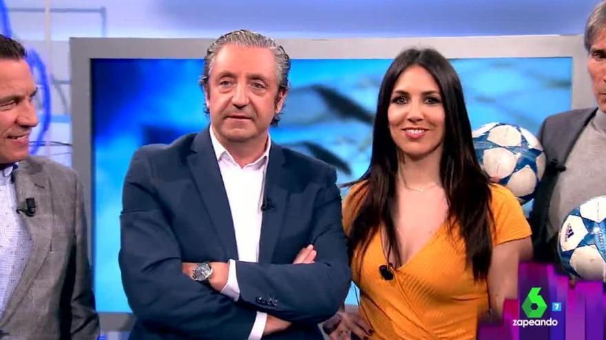 Irene Junquera con Josep Pedrerol