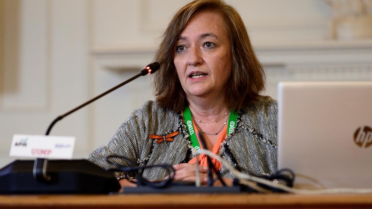La presidenta de la AIReF, Cristina Herrero. EFE/Pedro Puente Hoyos/Archivo