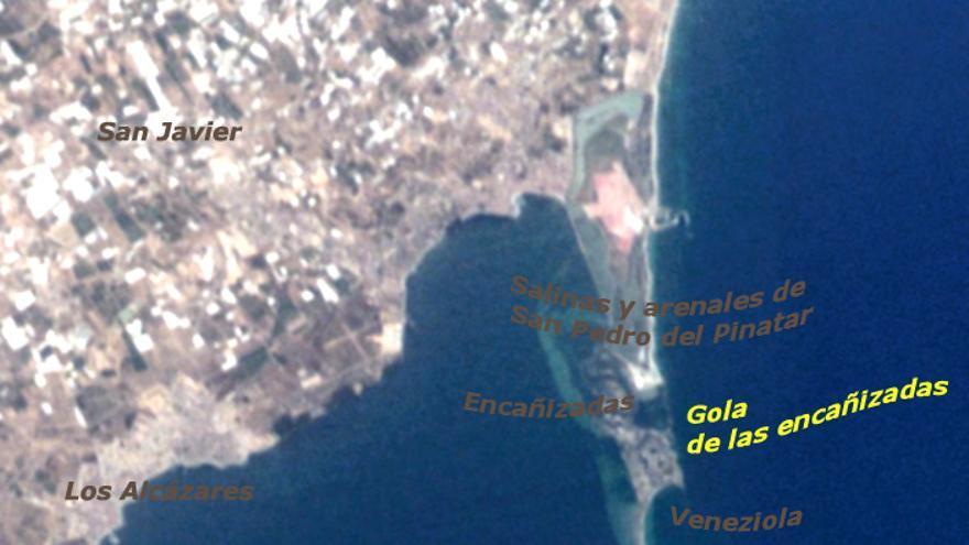 Mar Menor, vista satélite