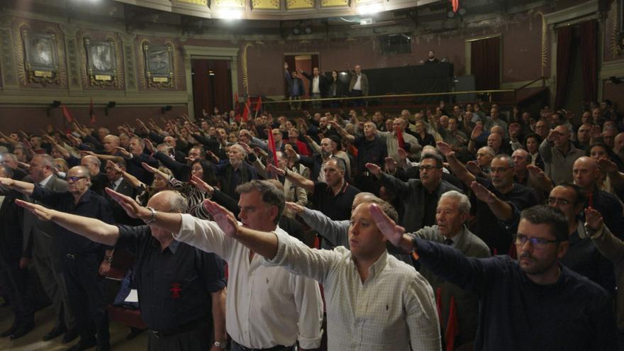 Imagen de la conmemoración de La Falage en el Ateneo de Madrid
