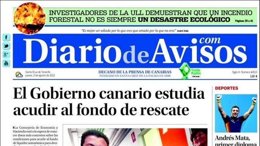 De las portadas del día (02/08/2012) #3