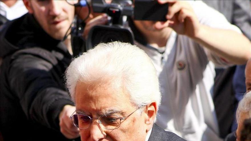 Mattarella se reunirá el lunes con el rey Felipe VI y Mariano Rajoy en Madrid