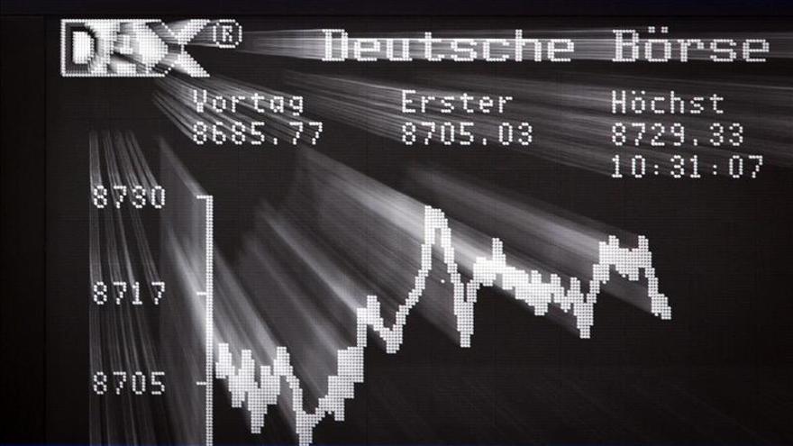 El DAX 30 alemán baja un 0,83 por ciento en la apertura, hasta los 9.126,04 puntos