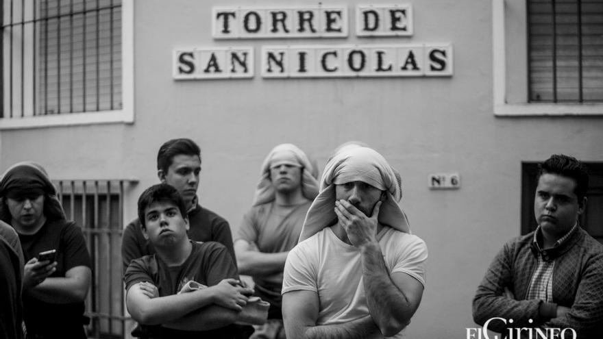 Costaleros de la Sentencia en un ensayo | MADERO CUBERO