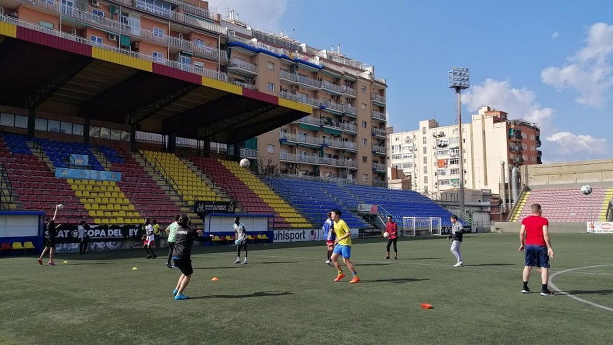 Imagen de una de las sesiones deportivas desarrolladas en el marco del proyecto.