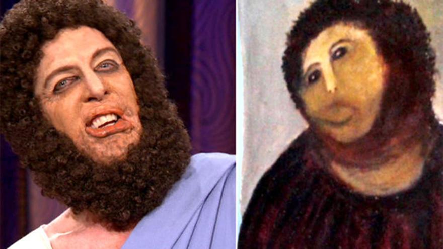 """El """"Ecce Homo"""" en el show de Conan O'Brien y... con """"Jesucristo"""" encantado"""