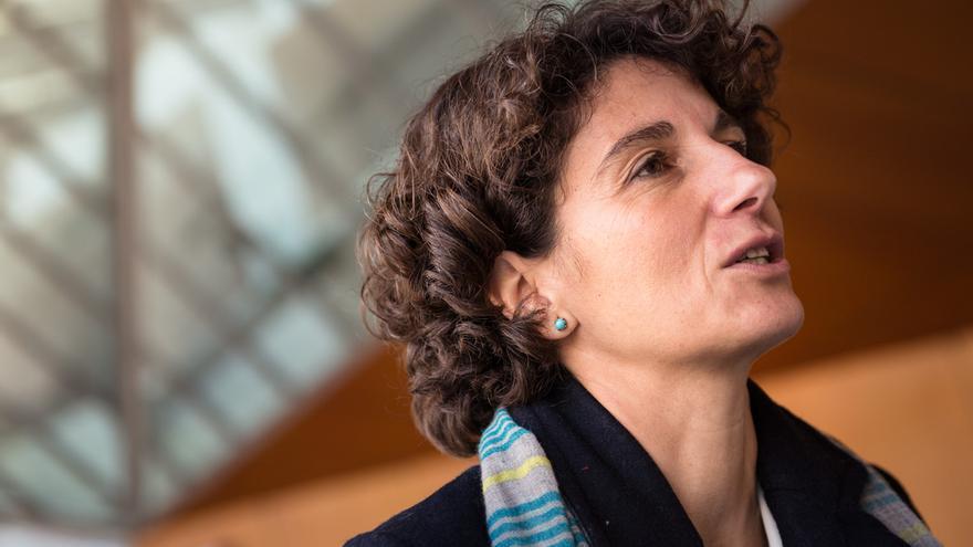 Marina Garcés, en un instante de la entrevista. / SANDRA LÁZARO