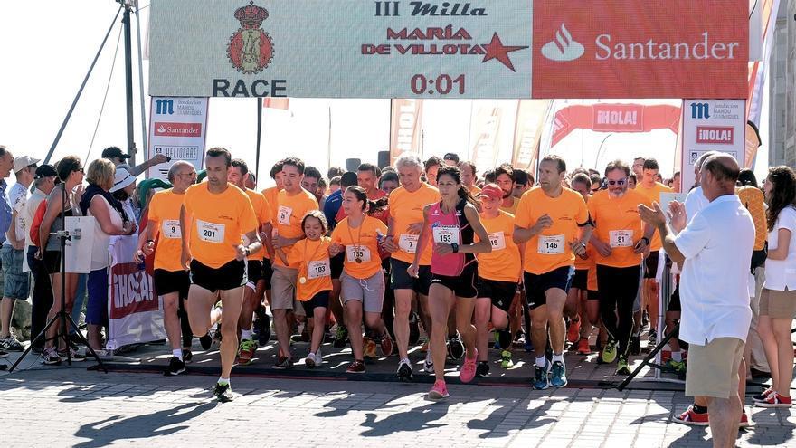 Cerca de 400 personas participan en la III Milla 'María de Villota'