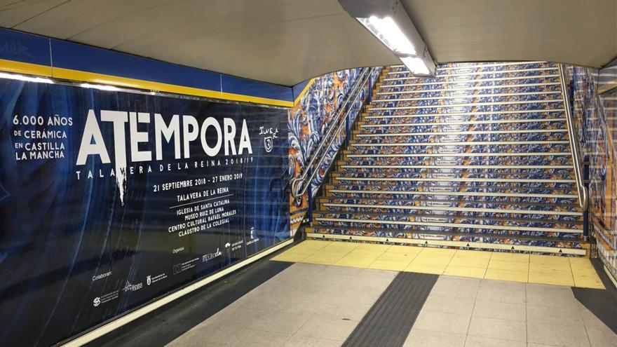 Promoción de la exposición en una estación del Metro de Madrid FOTO: Fundación Impulsa Castilla-La Mancha