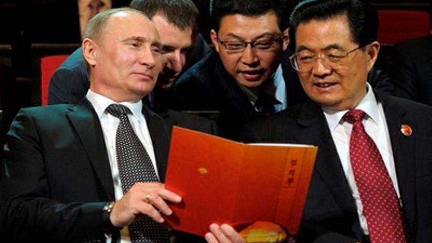 Putin y Hu Jintao (Efe)