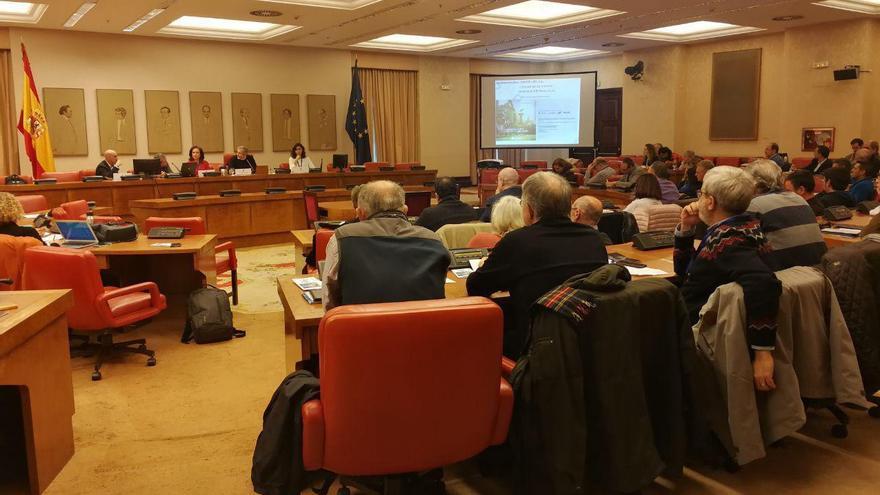 Participantes y asistentes a la Jornada sobre Movilidad Sostenible en el Congreso