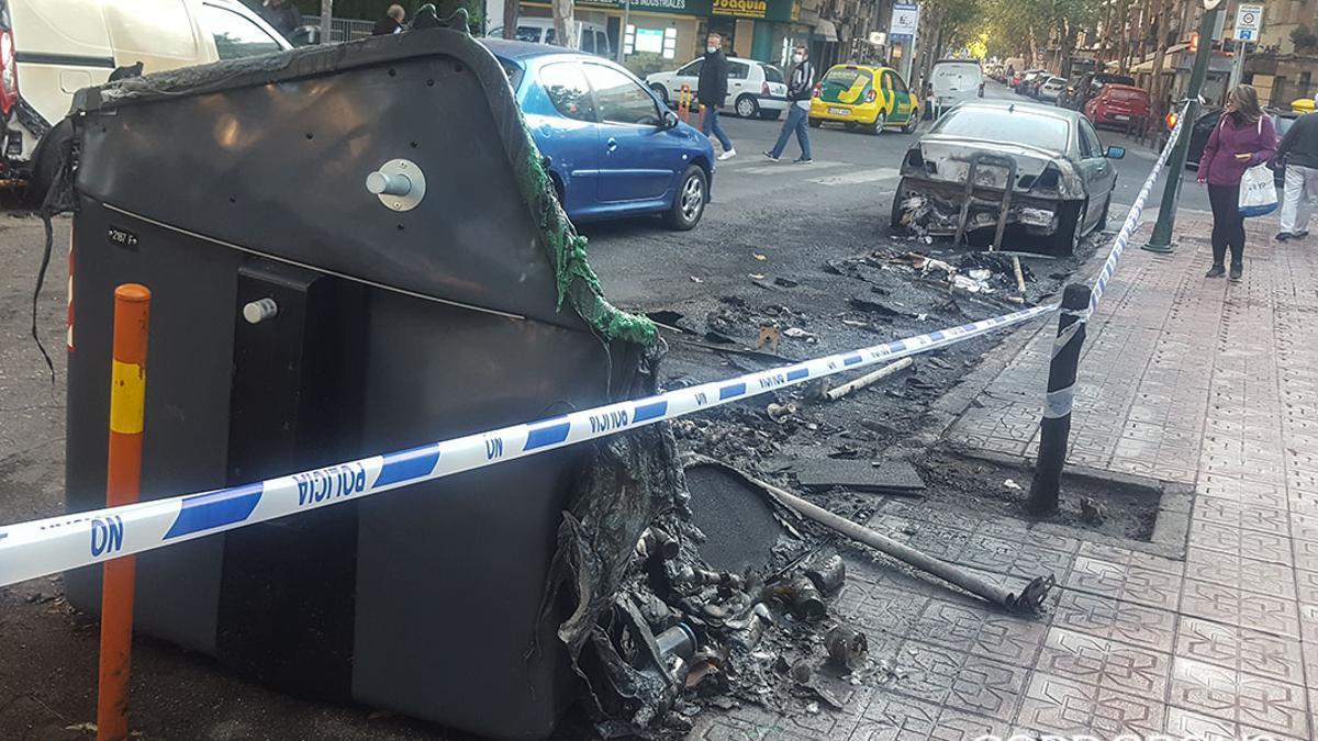 Imagen de archivo de contenedores afectados por incendio | MADERO CUBERO