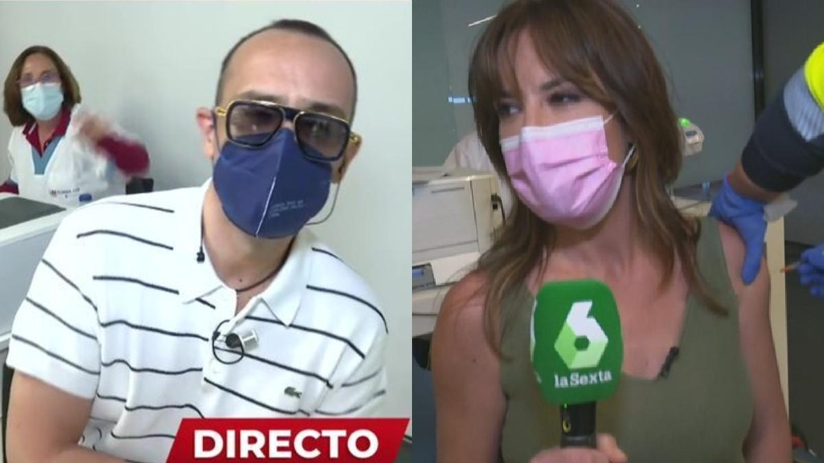Risto Mejide y Mamen Mendizabal se vacunan en directo