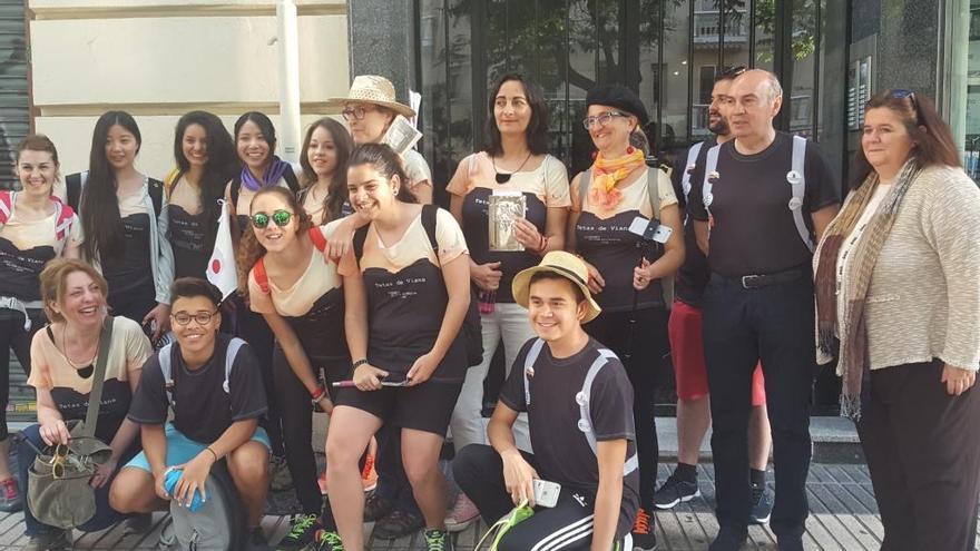 Los 'viajeros' antes de salir de Madrid