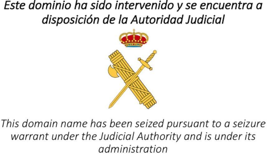 Web del 1-O cerrada por orden del juez de instrucción 13 de Barcelona