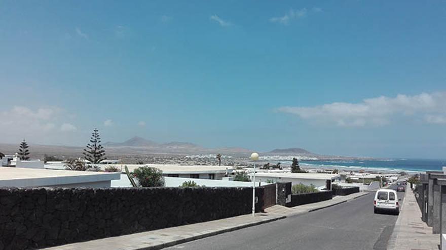 Urbanización Island Homes, en Famara, donde se aloja Zapatero
