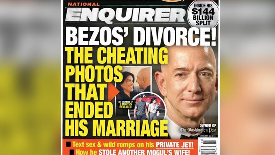 Portada de The National Enquirer que desencadenó la investigación de Bezos