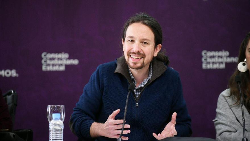 Pablo Iglesias, durante el discurso ante el Consejo Ciudadano de Podemos.