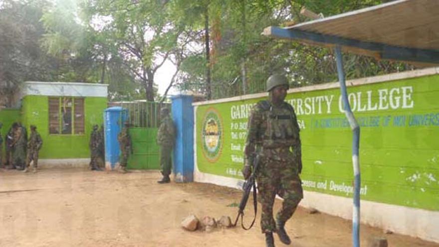 Imagen del lugar de los hechos difundida por el Ministerio del Interior de Kenia