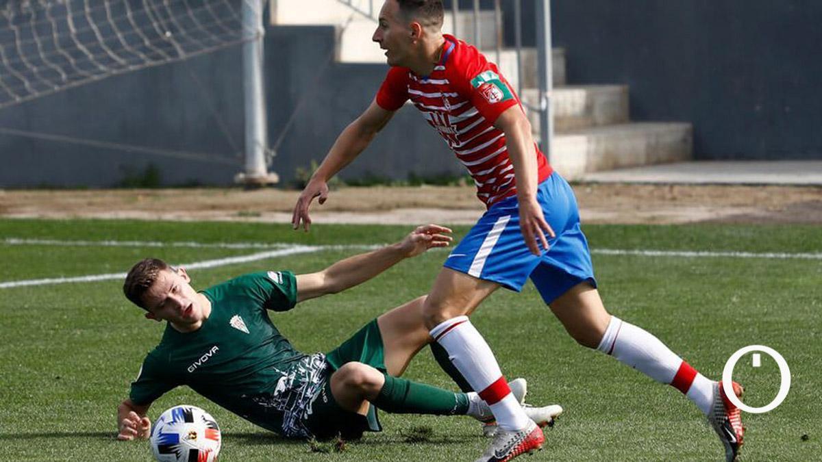 Berto Espeso, en un partido del Córdoba