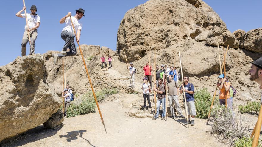 Salto del pastor en Gran Canaria