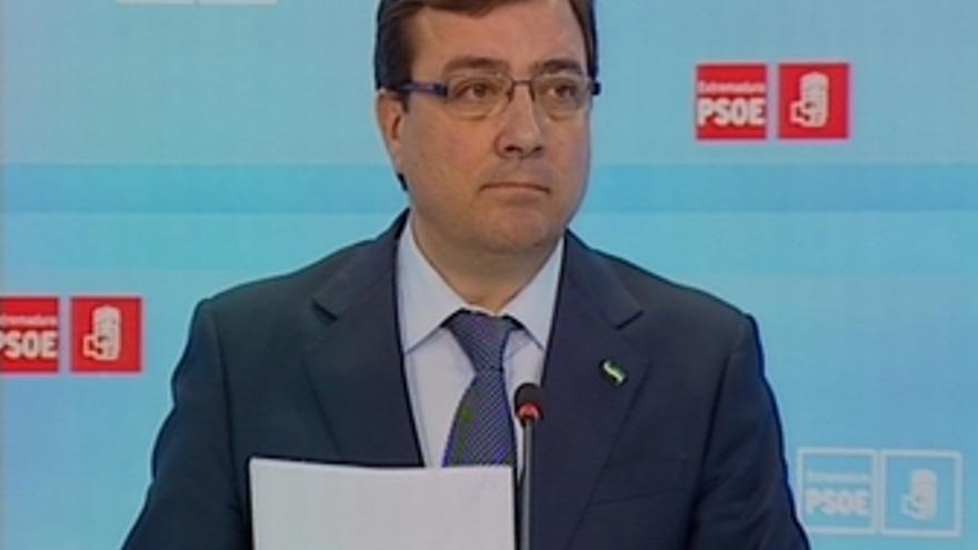 Rueda de prensa del Psoe extremeño, Fernández Vara
