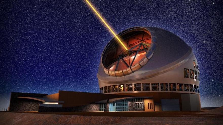 Recreación del Telescopio de Treinta Metros (TMT).