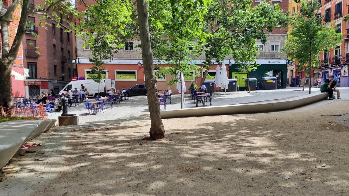 Vista de la plaza de Cristino Martos después de la reforma