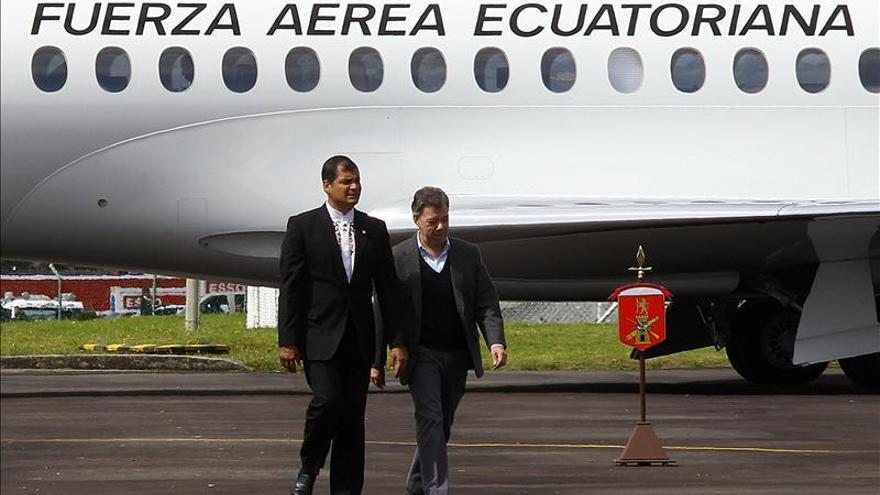 Santos le agradece a Correa su apoyo al proceso de paz con las FARC