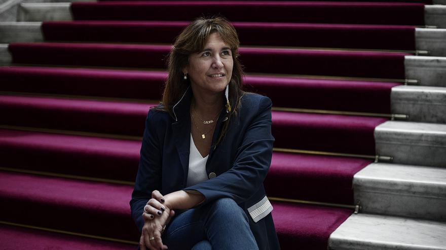 La candidata de JxCat al Congreso, Laura Borràs, en el Parlament.