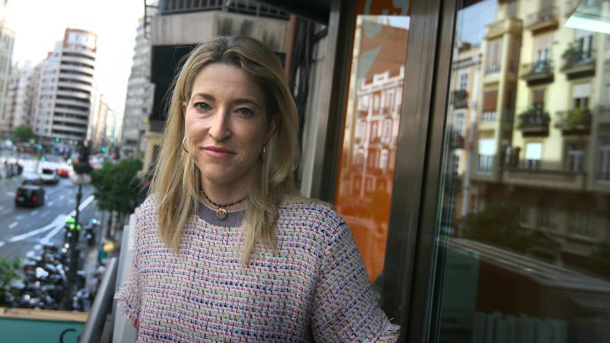 María Muñoz, candidata de Ciudadanos al Congreso por la Circunscripción de Valencia, durante una entrevista.