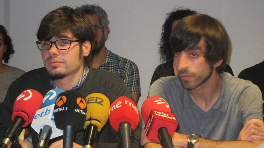"""Maura, Alba y López de Uralde encabezan las listas conjuntas de Podemos y Equo para """"propiciar el cambio"""" en Euskadi"""