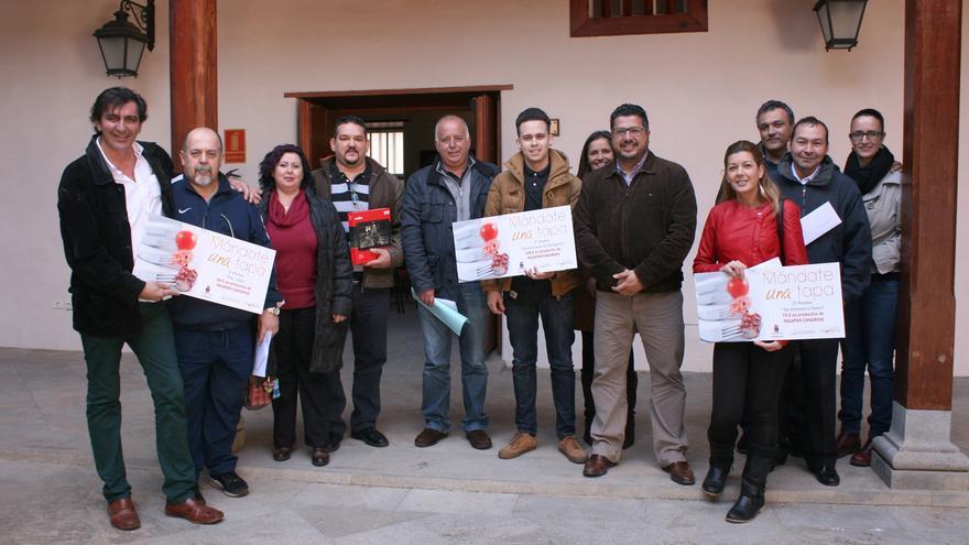 Foto de familia con los vencedores de esta iniciativa gastronómica del Ayuntamiento tinerfeño.