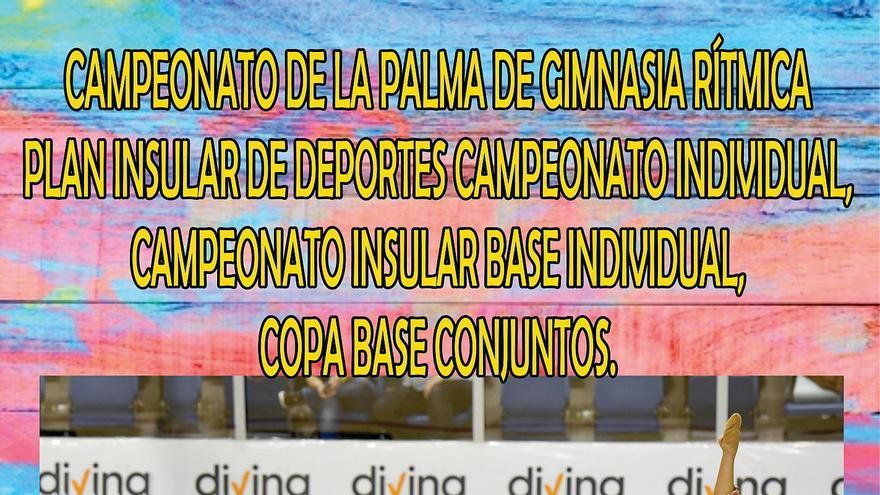Cartel del Campeonato Insular de Gimnasia Rítmica.