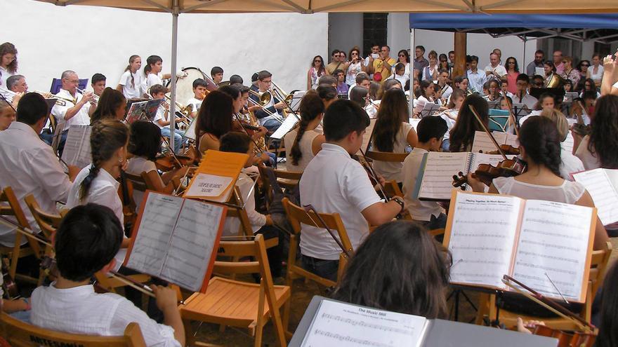Alumnos de la Escuela Insular de Música.