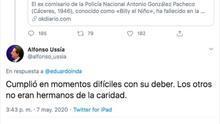 Captura de pantalla de uno de los comentarios de Alfonso Ussía tras la muerte de 'Billy el Niño'