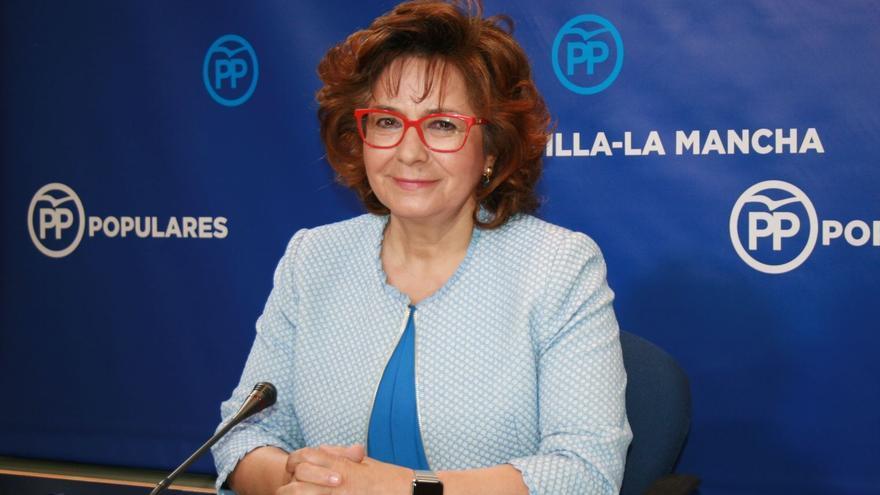 Carmen Riolobos, portavoz del PPCLM, en rueda de prensa